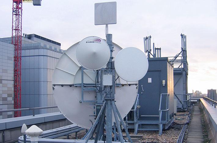 Microwave Internet installation