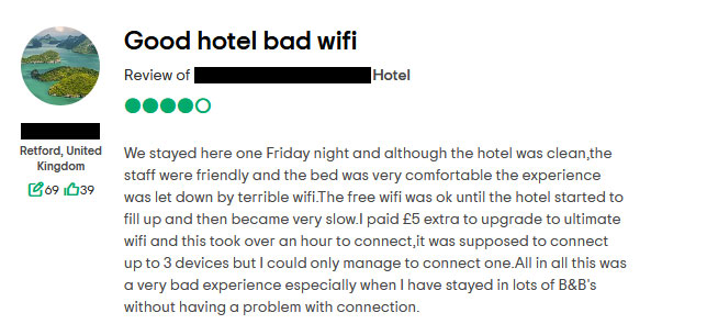 guest wifi hotel review
